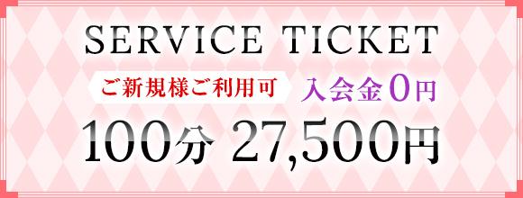 100分27,500円 特別割引チケット